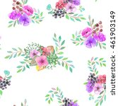 seamless pattern with the... | Shutterstock . vector #461903149