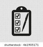 checklist    black vector icon   Shutterstock .eps vector #461905171