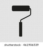 paint roller symbol    black...