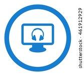 headphone icon  flat design...