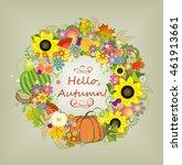 hello  autumn  | Shutterstock .eps vector #461913661