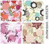 seamless floral backgrounds set | Shutterstock . vector #46191376