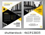 business brochure flyer design... | Shutterstock .eps vector #461913835