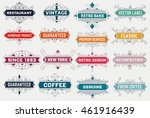 vintage logo template  hotel ... | Shutterstock .eps vector #461916439