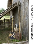 Stock photo a display of th century anglo saxon weapons and armour 461921071