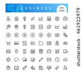 set of 56 business line icons... | Shutterstock .eps vector #461922979