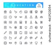 set of 56 education line icons... | Shutterstock .eps vector #461923054