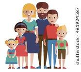 big family portrait | Shutterstock .eps vector #461924587