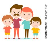happy family together | Shutterstock .eps vector #461924719