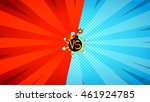 versus letters fight... | Shutterstock .eps vector #461924785
