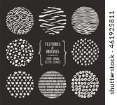 hand drawn textures and brushes.... | Shutterstock .eps vector #461925811