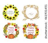 autumnal frames | Shutterstock .eps vector #461931451