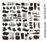 hand drawn vector brush strokes ... | Shutterstock .eps vector #461934379