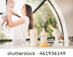 manual breast pump  mothers... | Shutterstock . vector #461936149