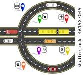 road junction resembling a euro ... | Shutterstock .eps vector #461937049