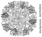 elegant bouquet of contoured... | Shutterstock .eps vector #461942041