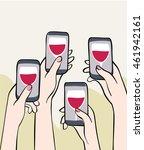 mobile celebration  female...   Shutterstock .eps vector #461942161