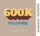 vector thanks design template... | Shutterstock .eps vector #461942944
