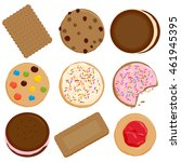 cookies and biscuits vector... | Shutterstock .eps vector #461945395