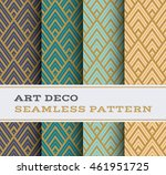 art deco seamless pattern with... | Shutterstock .eps vector #461951725