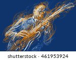 Blues  And Jazz Musician With A ...