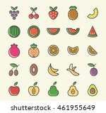 set of 25 minimalistic solid... | Shutterstock .eps vector #461955649