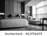 black and white style   hotel... | Shutterstock . vector #461956639