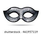 silver shining carnival mask | Shutterstock .eps vector #461957119