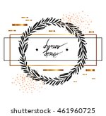 hand drawn vector minimalistic... | Shutterstock .eps vector #461960725