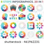 vector circle infographics set. ... | Shutterstock .eps vector #461962231