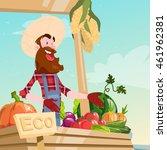 farm market organic eco fruits... | Shutterstock .eps vector #461962381