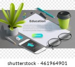 mockup scenes on education... | Shutterstock .eps vector #461964901