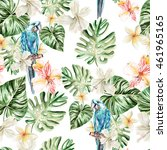 pattern with watercolor... | Shutterstock . vector #461965165