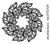 vector  mandala  contour... | Shutterstock .eps vector #461970709