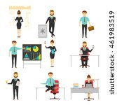businessperson set of... | Shutterstock .eps vector #461983519