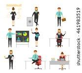 businessperson set of... | Shutterstock .eps vector #461983519