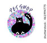pet shop design over white... | Shutterstock .eps vector #461994775
