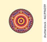 colorful mandala. decorative...   Shutterstock .eps vector #461996059