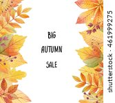 big autumn sale. watercolor... | Shutterstock . vector #461999275