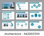 set of blue template for... | Shutterstock .eps vector #462002554