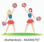 cheerleading dance. girls... | Shutterstock .eps vector #462006757