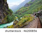 by the train across...   Shutterstock . vector #46200856
