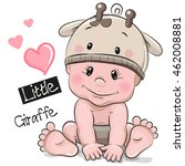 Cute Cartoon Baby Boy In A...