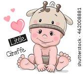 Cute Cartoon Baby Boy In A...