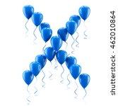 3d rendering.funny balloons... | Shutterstock . vector #462010864