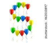 3d rendering.funny balloons... | Shutterstock . vector #462010897