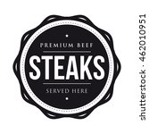 steaks vintage stamp logo | Shutterstock .eps vector #462010951
