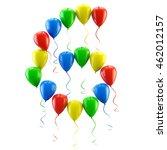 3d rendering.funny balloons... | Shutterstock . vector #462012157