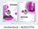 pink brochure design. corporate ... | Shutterstock .eps vector #462012754