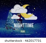 nighttime bright moon moonlight ... | Shutterstock . vector #462017731